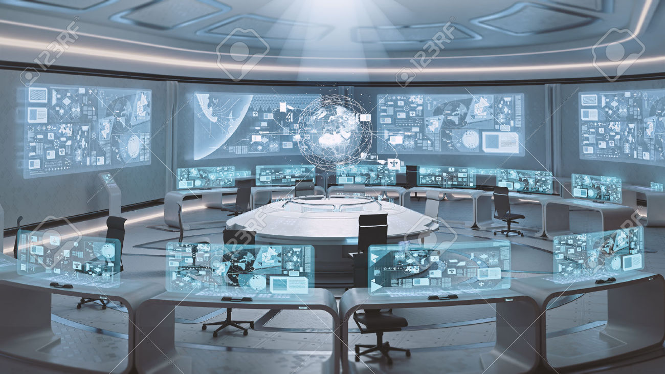 48449491-3D-rendered-empty-modern-futuristic-interior-command-center-Stock-Photo