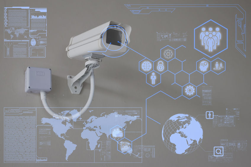 33196829 - cctv camera or surveillance technology on screen display
